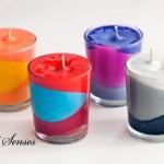 Направи си сам цветни свещи