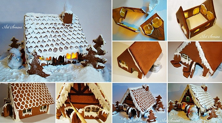 Коледна къщичка от медено тесто