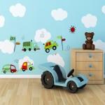 детска стая със стикери за стена