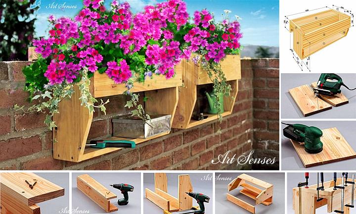 Направи си сам цветарник с етажерка за балкона