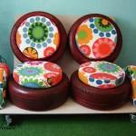 Идеи за градински декорации със стари гуми (1)