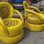 Идеи за градински декорации със стари гуми (10)