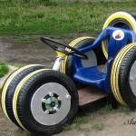 Идеи за градински декорации със стари гуми (12)