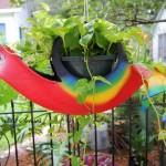 Идеи за градински декорации със стари гуми (16)