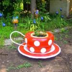 Идеи за градински декорации със стари гуми (6)