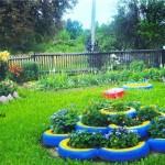 Идеи за градински декорации със стари гуми (7)