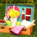 Превърнете стария куфар в красива чанта за пикник