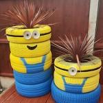 Градински миньони от стари гуми