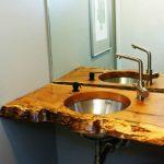 Дървен плот за мивка от цял ствол