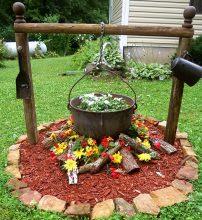 Идея за градинска декорация Врящото гърне