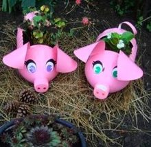 Направи си декоративна саксия-прасенце