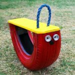 Направи си детска градинска люлка от стара гума
