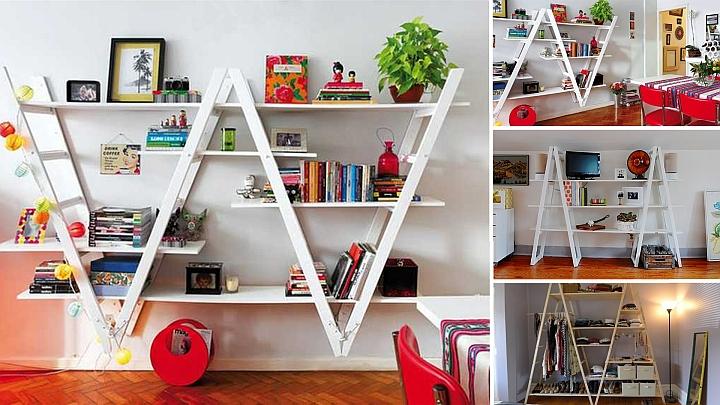Направи си етажерка от старата бояджийска стълба