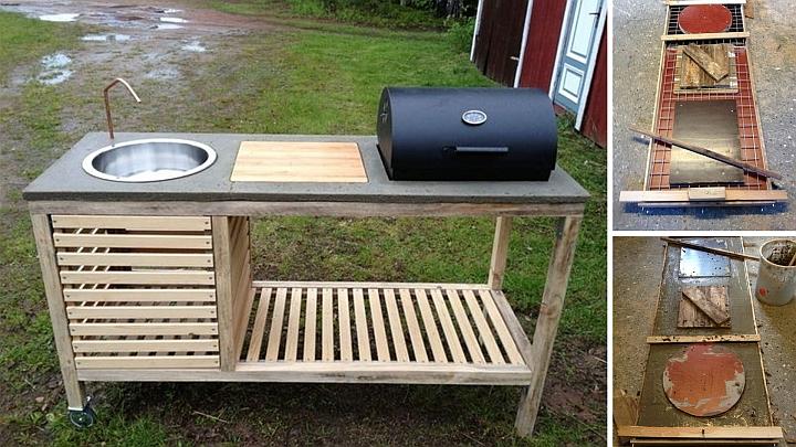 Направи си временна градинска кухня - барбекю