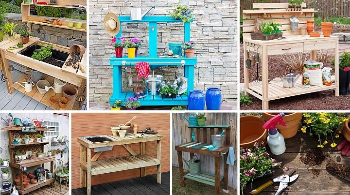 Направи си градинска маса за садене и пресаждане (3)