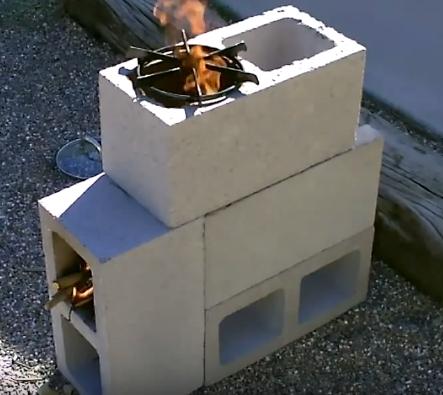 Направи си градински котлон от бетонни блокчета