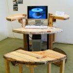 Направи си компютърна маса от дървена макара
