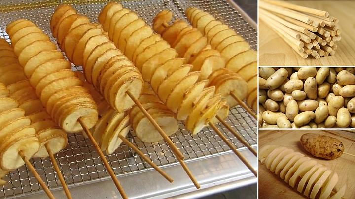 Пържени торнадо картофи