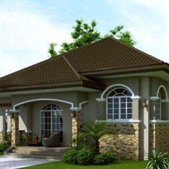 Проект на красива едноетажна къща с три спални на 125кв.м.