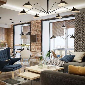 Интериорен дизайн на стилен тристаен апартамент от 100кв.м.