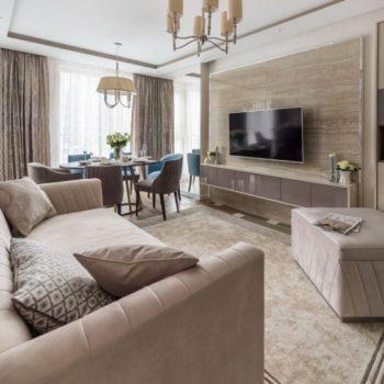 Интериорен дизайн на апартамент с две спални – 77м2