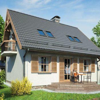 Красива и компактна къща с две тавански спални и гараж