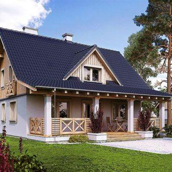Красива къща с веранда и мансарден етаж с три спални