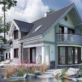 Красива къща с мансарда, двоен гараж и 5 спални