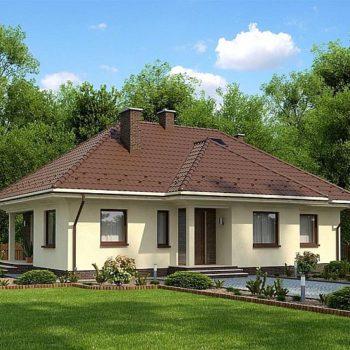 Прекрасна едноетажна къща с 4 спални на 100 квадрата